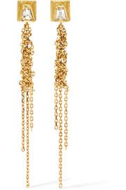 Waterfall 18-karat Gold Sapphire Earrings - one size Brooke Gregson tmiemC5dq