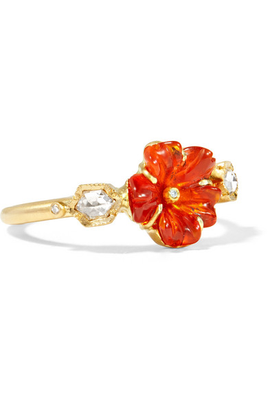 Brooke Gregson - Rivera Flower 18-karat Gold, Opal And Diamond Ring