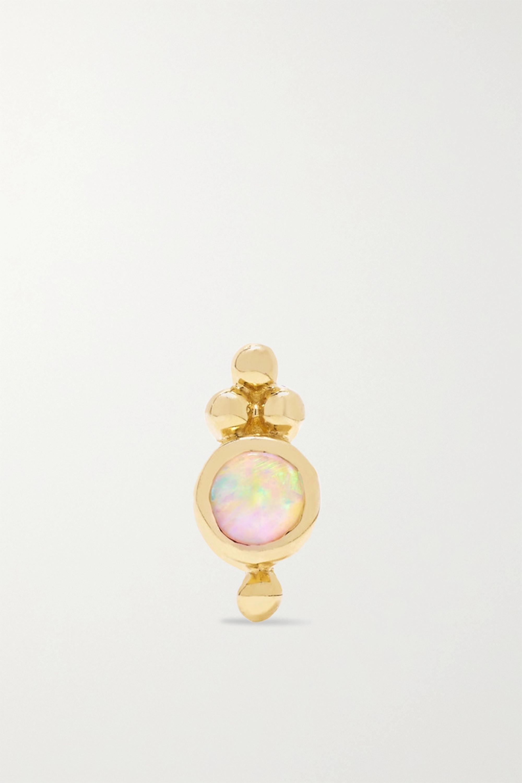 MARIA TASH Trinity 14-karat gold opal earring