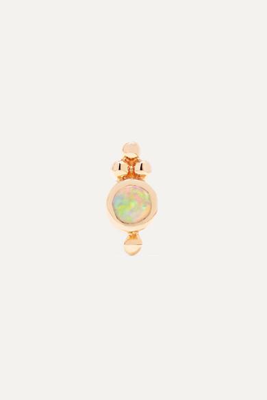 Maria Tash - Trinity 14-karat Rose Gold Opal Earring