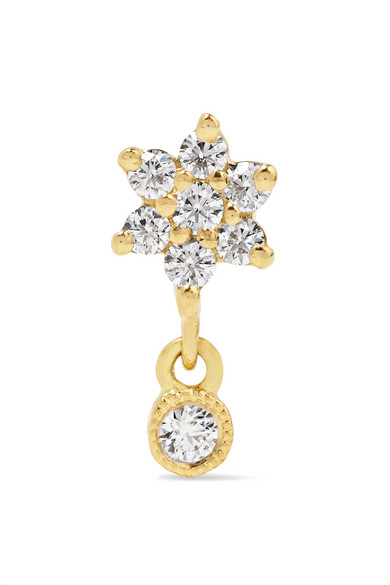 Maria Tash - Flower 18-karat Gold Diamond Earring