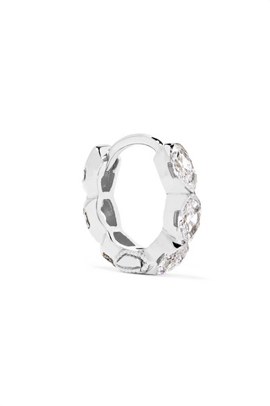 MARIA TASH Invisible Eternity 6.5Mm 18-Karat White Gold Diamond Earring