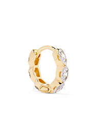 Invisible Eternity 18-karat gold diamond earring