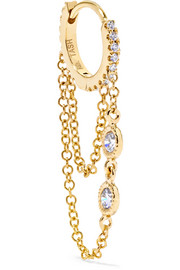 Eternity 18-karat gold diamond earring