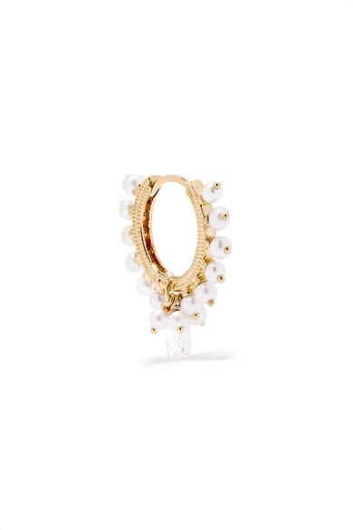 MARIA TASH Coronet 9.5Mm 18-Karat Gold, Pearl And Diamond Earring