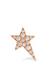 Star 18-karat rose gold diamond earring