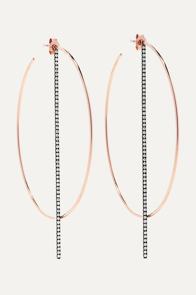 Diane Kordas - 18-karat Rose Gold Diamond Earrings