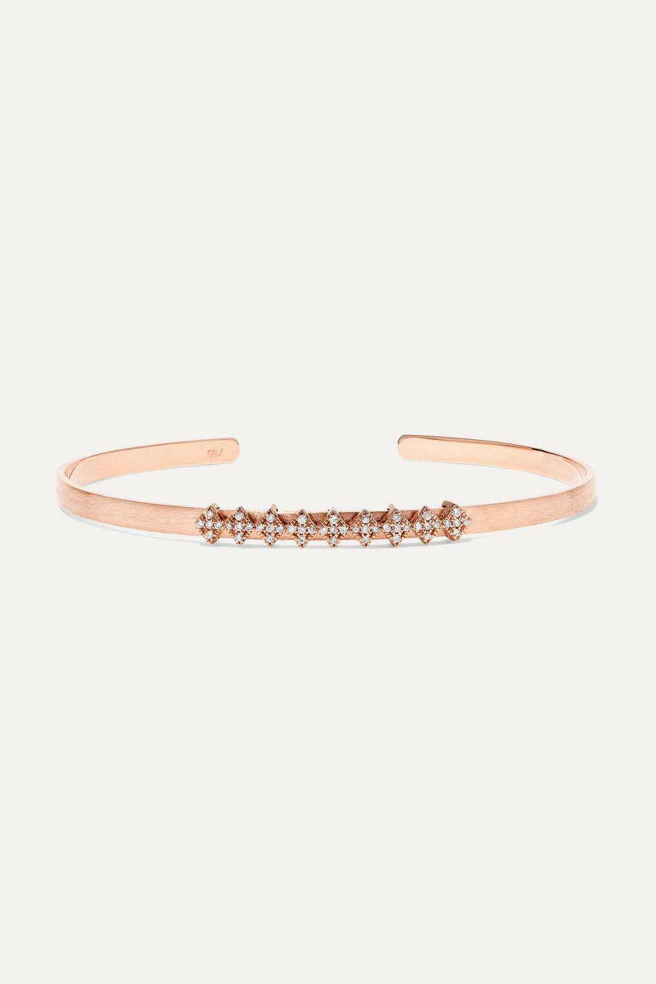 Diane Kordas 18-karat rose gold diamond cuff