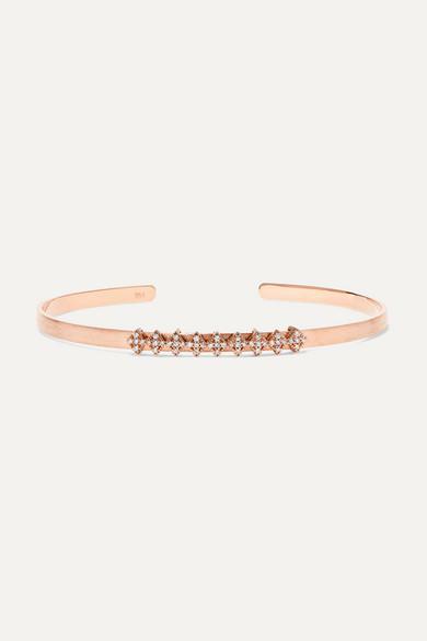Diane Kordas Titanium, 18 Karat Rose Gold And Diamond Cuff