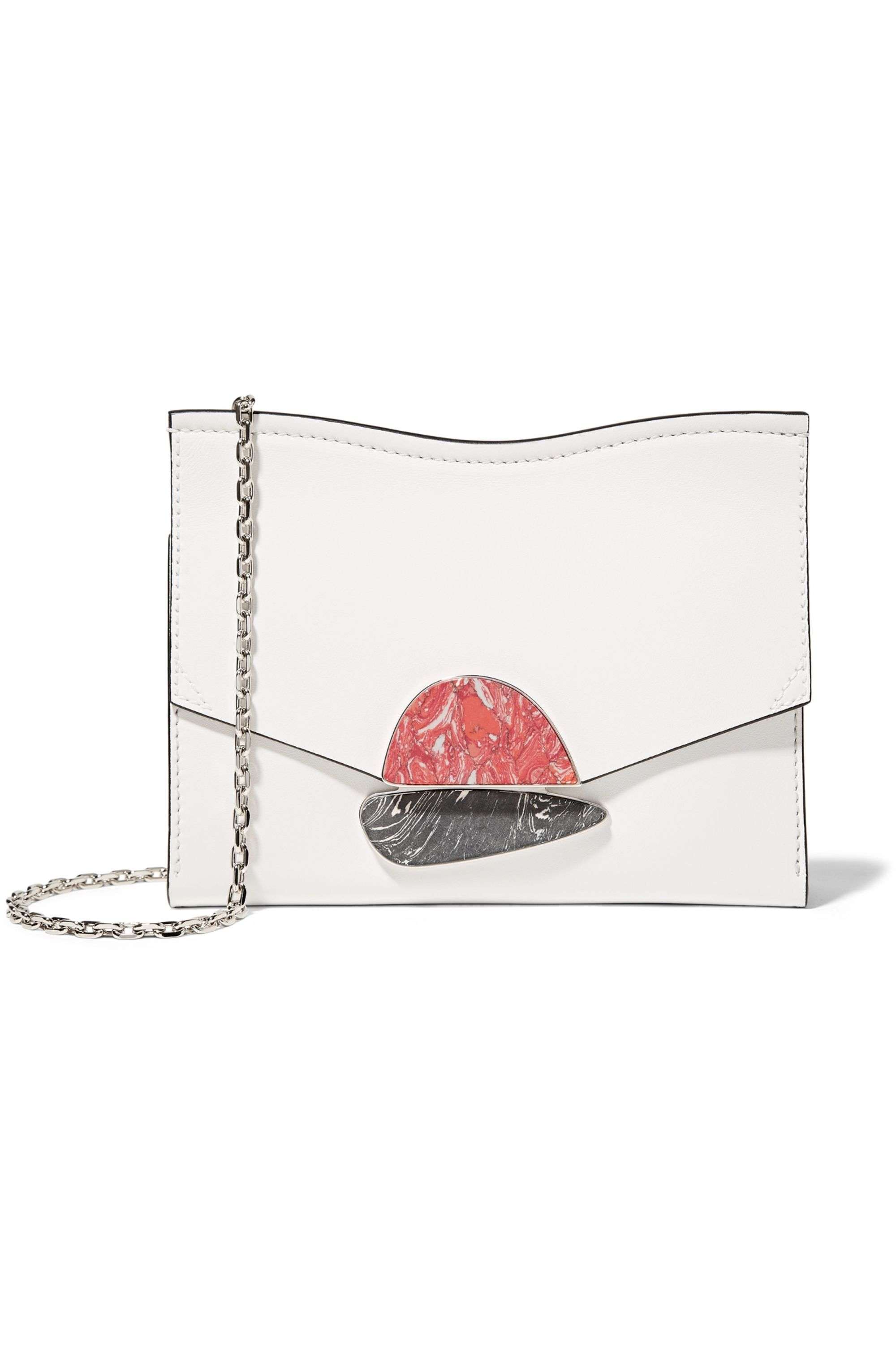 Proenza Schouler Curl embellished leather clutch