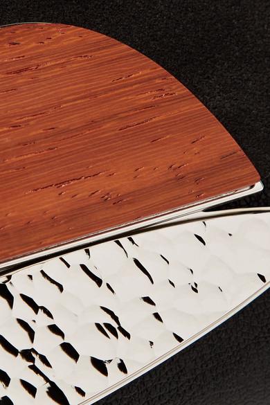 Proenza Schouler Curl verzierte Clutch aus Veloursleder und strukturiertem Leder