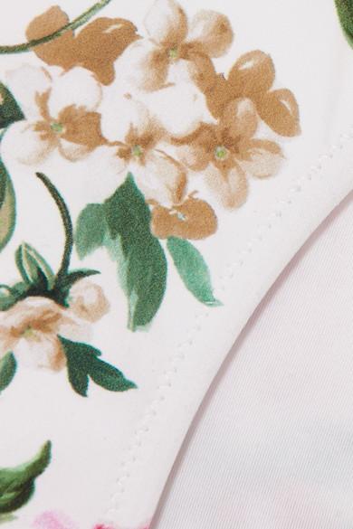 Dolce & Gabbana Bikini-Höschen mit Blumendruck