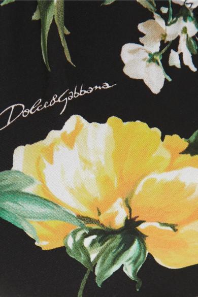 Dolce & Gabbana Neckholder-Bikini-Oberteil mit Blumenprint