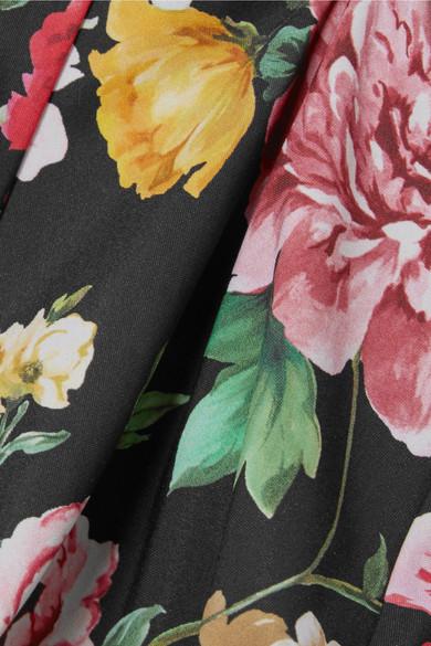 Dolce & Gabbana Hoch sitzendes Bikini-Höschen mit floralem Print