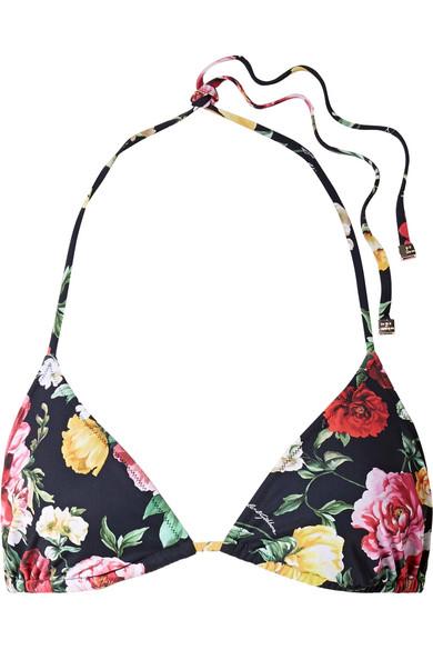 Dolce & Gabbana Triangel-Bikini-Oberteil mit Blumendruck