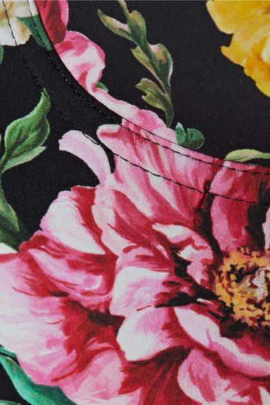 Dolce & Gabbana Floral bedruckter Balconette-Badeanzug