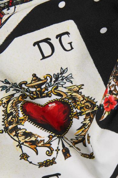 Dolce & Gabbana Bedrucktes Bandeau-Bikini-Oberteil