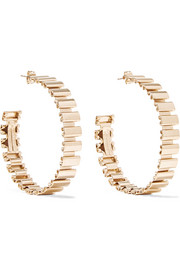 Casta gold-tone hoop earrings