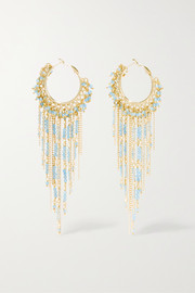 Eleonora gold-tone quartz earrings