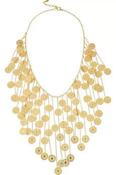 Isharya | Coin Bib 18-karat gold-plated necklace | NET-A-PORTER.COM from net-a-porter.com