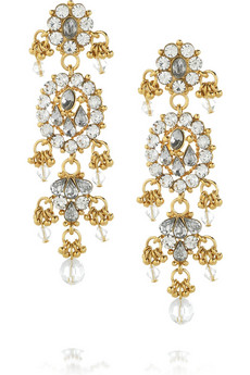Isharya | Bling Maharani 18-karat gold-plated earrings | NET-A-PORTER.COM from net-a-porter.com