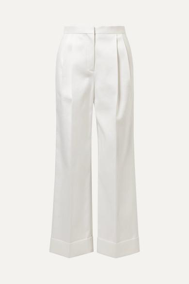 The Row Liano Hose mit weitem Bein aus Baumwoll-Twill mit Falten