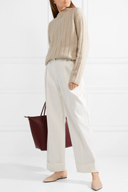 The Row Liano pleated cotton-twill wide-leg pants