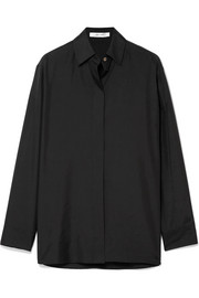 The Row Big Sisea oversized silk-organza shirt