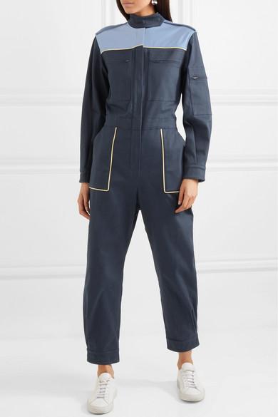 Miu Miu Jumpsuit aus einer Baumwollmischung in Colour-Block-Optik