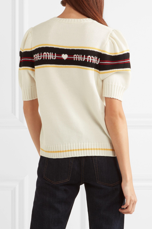 Miu Miu Jacquard-knit wool sweater