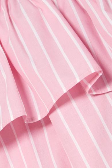 Miu Miu Schulterfreies Oberteil aus Baumwolle mit Streifen