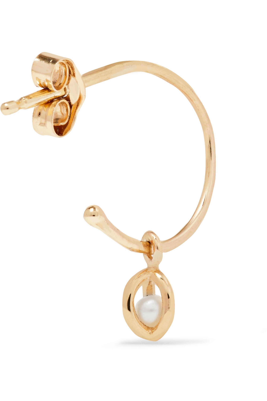 SARAH & SEBASTIAN Boucles d'oreilles en or 9 carats et perles Orbit