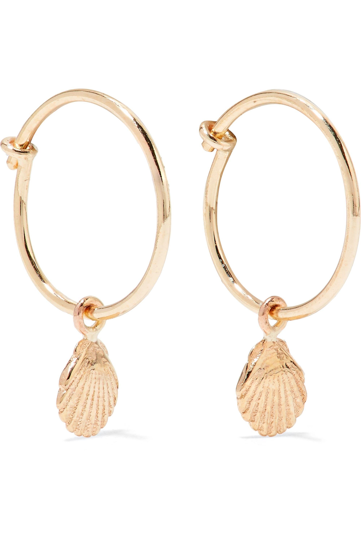 SARAH & SEBASTIAN Boucles d'oreilles en or 9 carats Shell