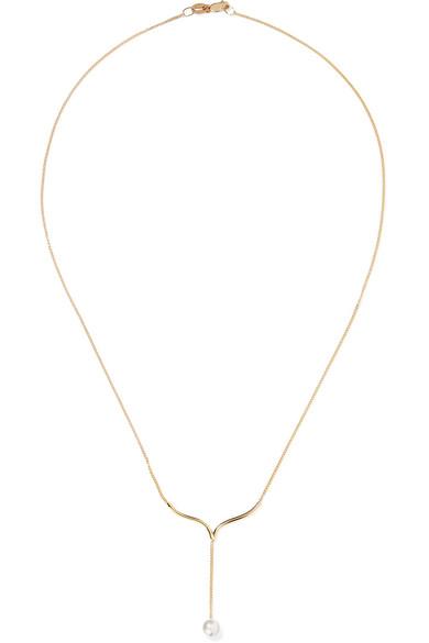 9-karat Gold Pearl Earrings - White Natasha Schweitzer 1zDxeHU