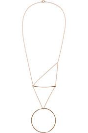 Pendulum 14-karat gold-plated necklace