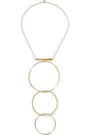 Levitation gold-plated necklace