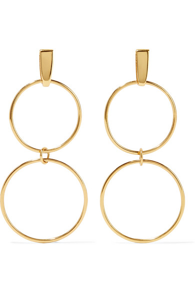 Natasha Schweitzer - Loop Gold-plated Earrings