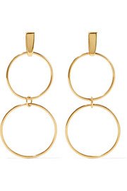 Loop gold-plated earrings