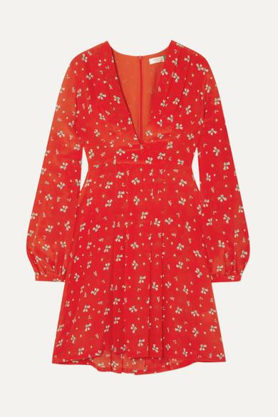 Red Silk Mini Dress