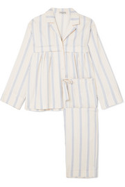 Moore and Marmee striped cotton-voile pajama set