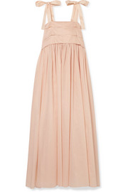 Hortense silk-trimmed cotton-voile maxi dress