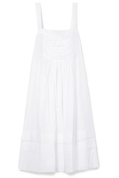 Three Graces London Linton Kleid aus Baumwoll-Voile mit Falten