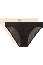 Soire set of two mesh briefs