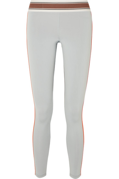 OLYMPIA ACTIVEWEAR Pria Paneled Stretch Leggings in Gray