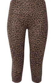 Olympia Activewear Matteo cropped leopard-print stretch-jersey leggings