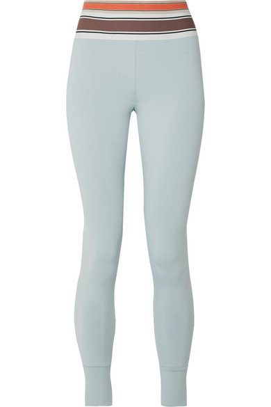 OLYMPIA ACTIVEWEAR Vix Stretch-Jersey Leggings in Sky Blue