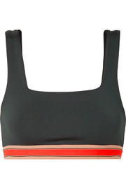 Knox stretch-jersey sports bra