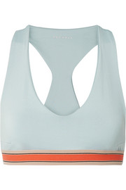 Minerva stretch-jersey sports bra