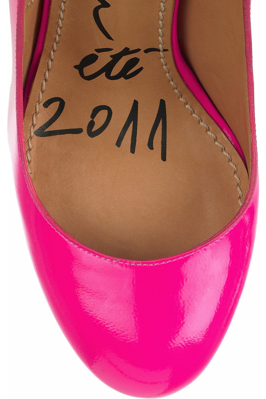 Lanvin Horseshoe-heel patent-leather pumps