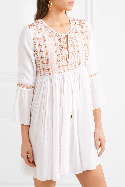Melissa Odabash Natalia embroidered voile mini dress